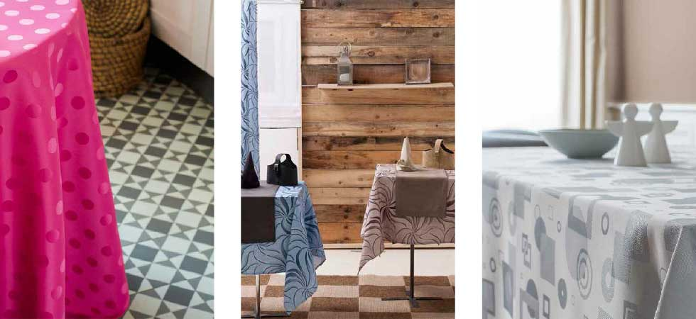 Notre collection de linge de tables, nappes, chemin de table
